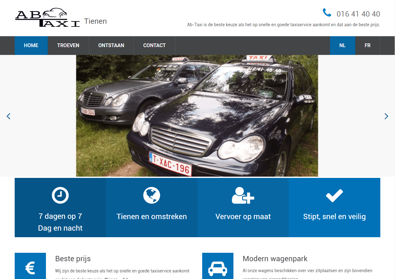 Website Ab-Taxi: www.ab-taxi.be
