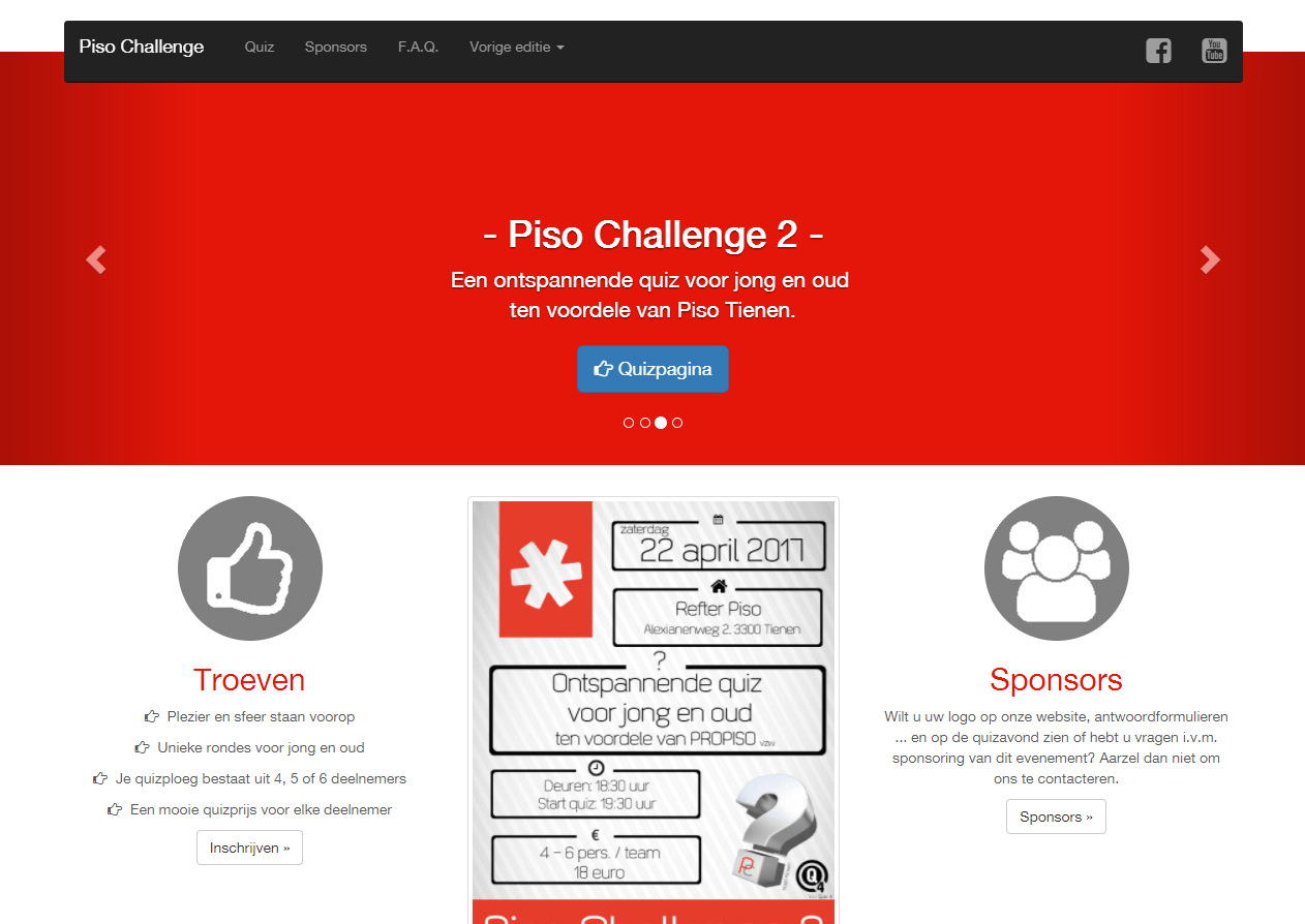Website Piso Challenge: www.quiz.piso.be