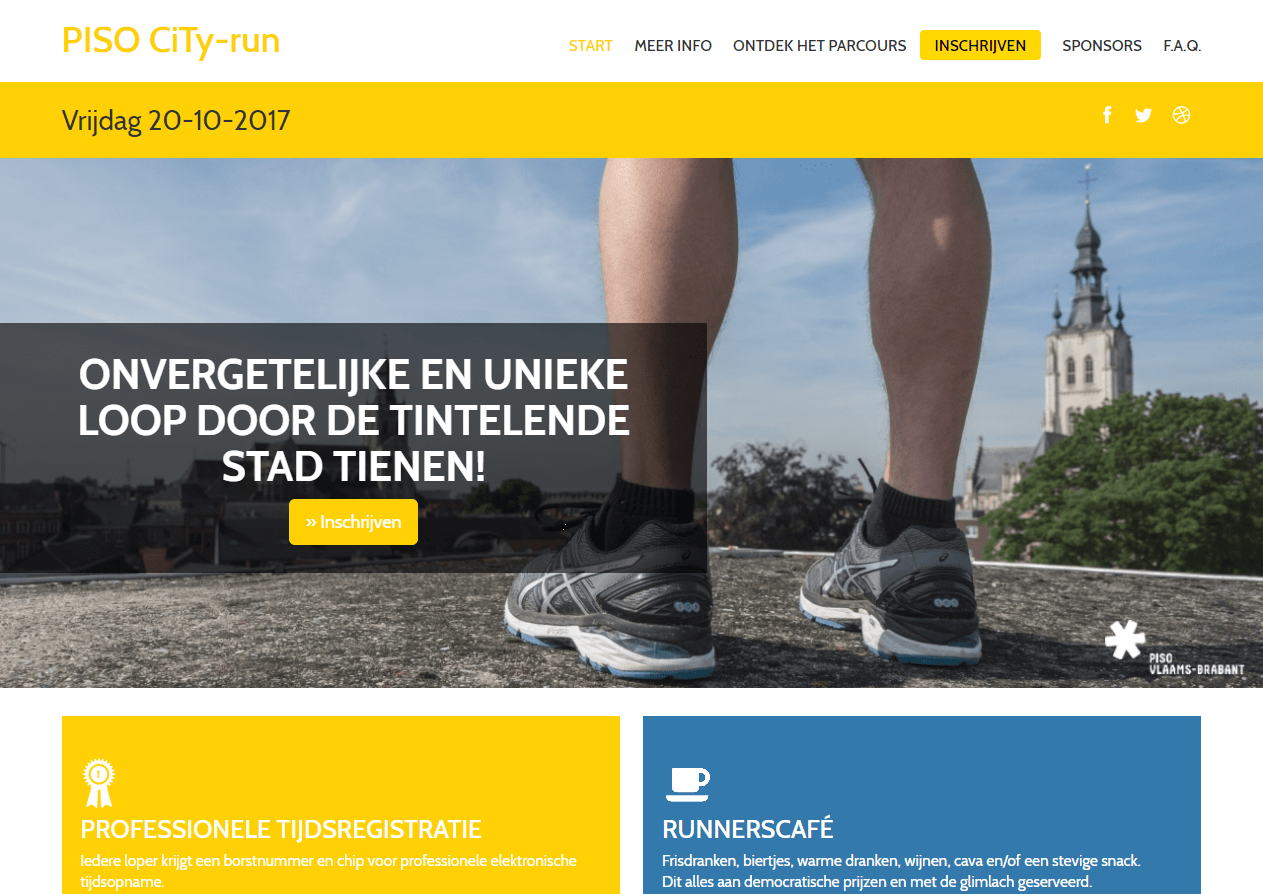 Website PISO CiTy-run: www.run.piso.be
