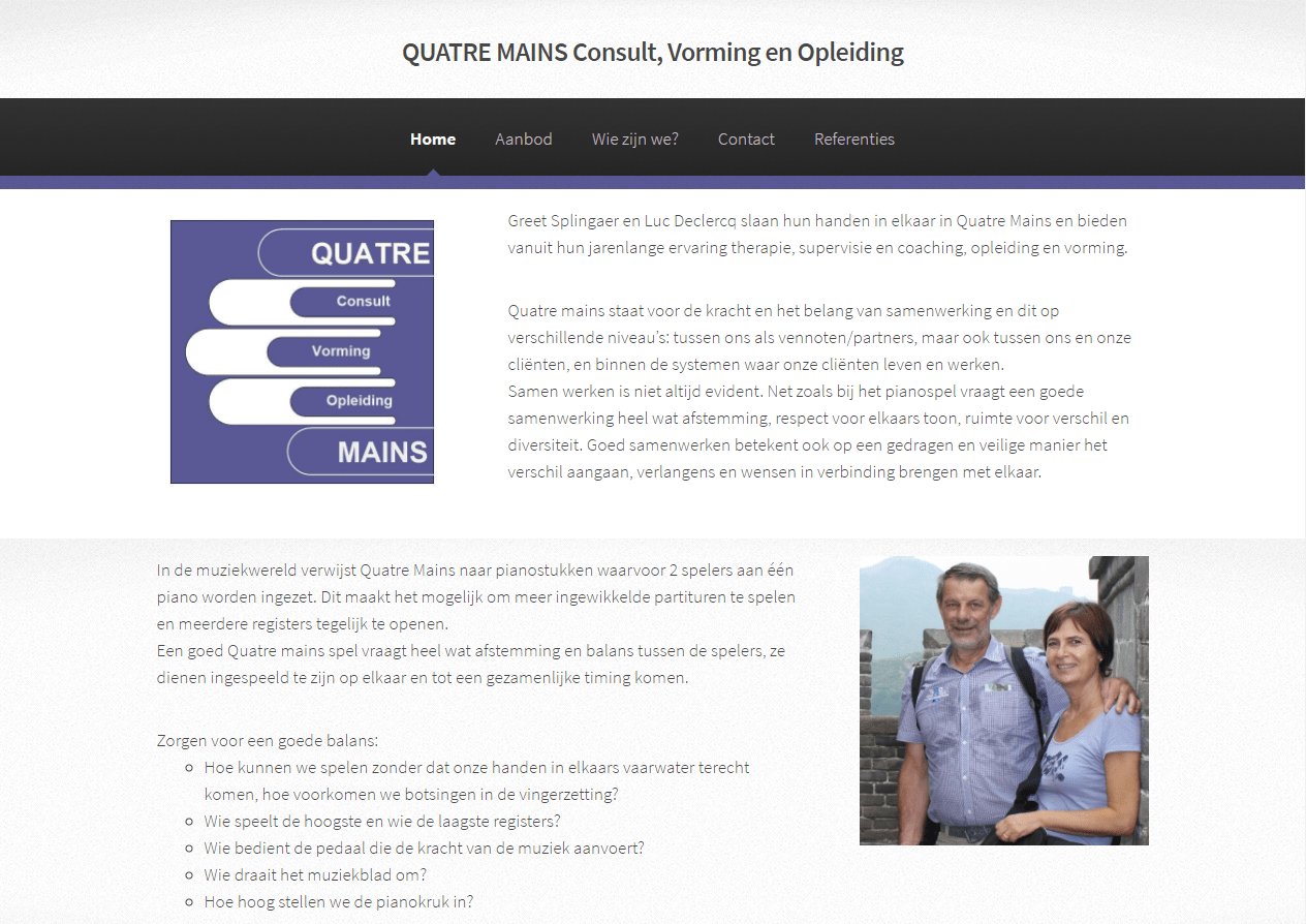 Website Quatre Mains: www.quatremains-consult.be
